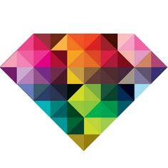 RAINBOW DIAMOND Art Print