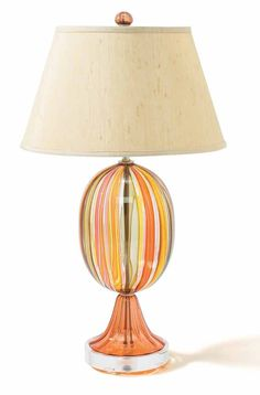 Orange Art Glass Table lamp, sharing beautiful designer home decor inspirations: luxury living room, dinning room & bedroom furniture, chandeliers, table lamps, mirrors, wall art, decorative tabletop & bathroom accents & gifts courtesy of instyle-decor.com Beverly Hills enjoy & happy pinning