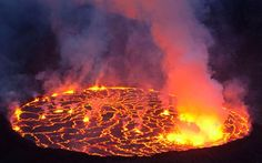 When photographing Nyiragongo, Carsten said temperatures at the rim of the lava lake reached up to 1,100 degrees Celsius.- Carsten Peter