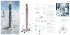 """eVolo Announces 2016 Skyscraper Competition Winners,""""Data Skyscraper: Sustainable Data Center in Iceland"""" / Valeria Mercuri, Marco Merletti. Image Courtesy of eVolo"""