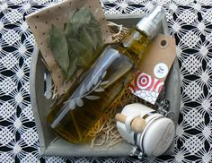 #Gourmet Gift, #Foodie Gift, #Extra Virgin Olive Oil, #Gourmet Salt, #Bay Leaves  by VintageNatureGreece