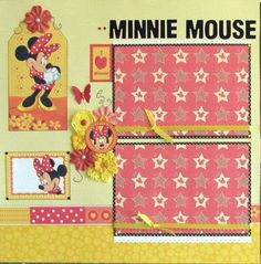 12x12 double page scrapbook layout Disney's Minnie by ntvimage