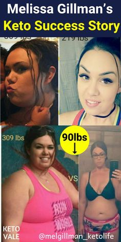 Melissa Gillman's Keto Weight Loss Success Story Before and After Photo of 90lbs loss