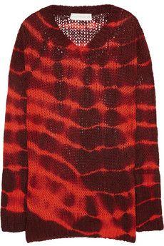 Stella McCartney Tie-dye alpaca-blend sweater   NET-A-PORTER