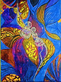 ARTES, DESARTES E DESASTRES CONTEMPORÂNEOS.   Nova botânica em cores matissianas 0,60 x 0,40 Técnica mista