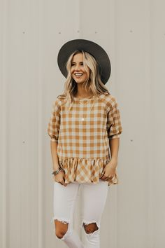 Gold + White Spring Top | ROOLEE #ROOLEEfave