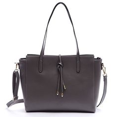 Soye Fashion Simple Women's High Quality Genuine Leather Handbag Zip Large Shoulder Bag Tote Bags Purse(Gray) - http://leather-handbags-shop.com/soye-fashion-simple-womens-high-quality-genuine-leather-handbag-zip-large-shoulder-bag-tote-bags-pursegray/