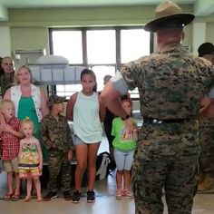 ( Devil Dog Daycare Children of drill instructors get a chance to experience what its like to be a recruit at MCRD San Diego. Mcrd San Diego, Marines Funny, Drill Instructor, Kids Daycare, Support Our Troops, Semper Fi, Marine Corps, Usmc, Devil