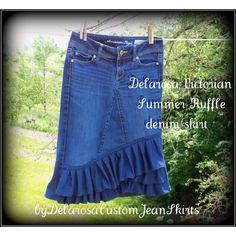 Love this denim skirt!