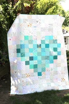 Pixelated Heart Patchwork Quilt by Amy Smart - Diary of a Quilter