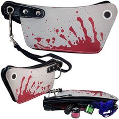 Kreepsville - Cleaver Mini Clutch Make Up Purse - #infectiousthreads #goth…