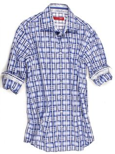 e949148e9ce Regensburg Long Sleeves Royal and Luxurious   Rich double ply European navy  and white plaid on double faced check. Attention to details with a Liberty  of ...