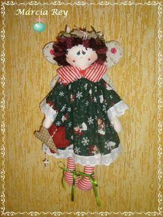 Anjo natalino em tecido