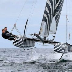 Arthur Boc-Ho and Benjamin Lamotte Sailing Fast on The #zebra #flyingphantom #Sailing #youthsailing #BestSailors #saintlunaire