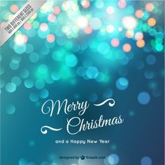 輝くクリスマスカード