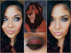 Agape Love Designs: The Lion King's Scar Inspired Makeup