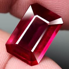 7.16CT.GORGEOUS! OCTAGON FACET TOP BLOOD RED NATURAL RUBY MADAGASCAR #GEMNATURAL