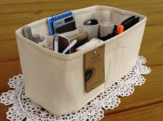 "Purse Insert ORGANIZER SHAPER / Rectangular / 11"" x 6"" / With Reinforced Stiff Bottom / You Choose the Color / fits LV Speedy 30"