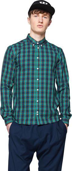 Hemd - Schönes Hemd in Dunkelgrün von minimum. Das Hemd bietet ein erfrischendes Karo-Design und lässt sich so locker zu jedem Casual-Outfit kombinieren. - ab 29,90€