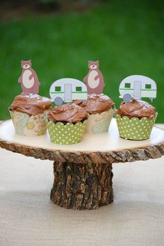 The Great CAMPOUT - Custom Cupcake Toppers