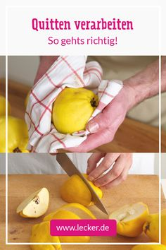Processing Quinces - It& That Simple Healthy Eating Tips, Healthy Nutrition, Healthy Recipes, Quince Fruit, My Favorite Food, Favorite Recipes, Vegetable Drinks, Slow Food, Veggie Dishes