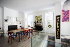 """Stacy London's Apartment Is Perfection #refinery29  http://www.refinery29.com/stacy-london-home-tour#slide-9  The artwork """"I Love You but I've Chosen Darkness"""" was a commissioned piece from one of Stacy's favorite Etsy artists, NayArts...."""