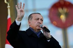 Turkey's President Recep Tayyip Erdogan, delivers a speech a day a referendum that granted him sweeping new powers._ He has what Trump wants, more unbridled power.
