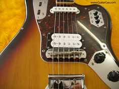 2002 crafted in Japan Fender Jaguar with a Seymour Duncan Jazz Blues Humbucker installed.