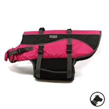 A pink life jacket for Poppy.