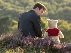 (Ewan McGregor) with his long time friend Winnie the Pooh in Disney's live-action adventure Christopher Robin Ewan Mcgregor, Christopher Robin Quotes, Disney Christopher Robin, Toy Story 3, Walt Disney, Disney Live, Disney Family, Disney Fun, Critique Film