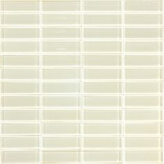 Tile Glass Mosaic 22x73mm Sheet Whte 06t-gl-1100 - Bunnings Warehouse