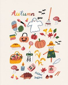 Autumn is coming! The weather has definitely chang . Autumn is coming! The weather has definitely changed 🍃🍂. Today is a full fall weather. I& afraid. The rain is all day long – 🌧. Halloween Illustration, Autumn Illustration, Cute Illustration, Sketch Note, Posca Art, Autumn Aesthetic, Autumn Art, Cute Drawings, Fall Drawings
