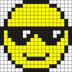 How to bead pixel art using cube beads and square stitch. - Pixel Beading- Cubes in square stitch - Beadwork at BellaOnline Emoji Patterns, Pony Bead Patterns, Pearler Bead Patterns, Alpha Patterns, Perler Patterns, Beading Patterns, Cross Stitch Patterns, Kandi Patterns, Beading Tutorials