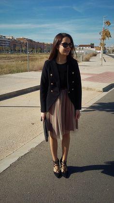 Look con falda de tul  - Temporada: Otoño-Invierno - Tags: chic,  - Descripción: Look con falda de tul