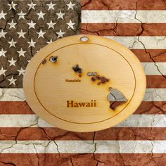 Beautifully Handcrafted Hawaii Ornament! Personalized Free!