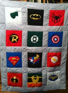super hero  quilt | Made a Super Hero quilt for my grandson's third birthday | Sewing