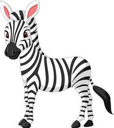 Cartoon Zebra - Pick Your Watch Cheetah Cartoon, Cartoon Monkey, Zebra Clipart, Cute Animal Clipart, Cartoon Drawings, Animal Drawings, Zebra Drawing, Zebra Illustration, Zebra Decor