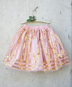 Look at this #zulilyfind! Blush Sequin Hattie Skirt - Toddler & Girls #zulilyfinds