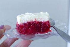 The Best Cherry Jello is exactly as the names states! Seriously easy and feeds a crowd. Can be served either with dinner or as dessert. Cherry Jello Recipes, Jello Pudding Recipes, Jello Dessert Recipes, Fruit Recipes, Easy Desserts, Sweet Recipes, Strawberry Jello, Candy Recipes, Soup Recipes