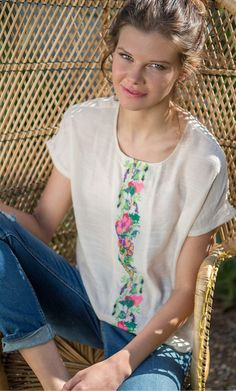 The perfect partner to denim shorts and sun-kissed skin, our loose flowing blouse is boho chic at...