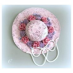 Pink Wall Hat Decor Shabby Chic Decor Victorian Decor Bedroom Decor... (€17) ❤ liked on Polyvore featuring home and home decor