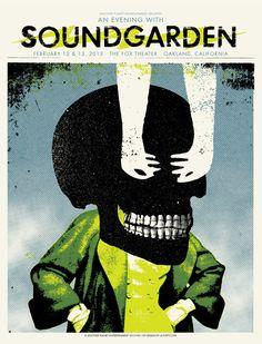 Soundgarden Concert Poster - Skeleton Collage Motif / Design