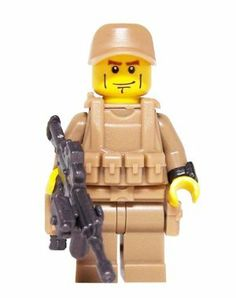 U.S. Army Ranger (Modern Warfare) - Custom LEGO Minifigure by miniBIGS. $17.00. Stop LEGO terrorists and restore freedom to the region.. Ranger's torso and lego color may vary between Tan and Dark Tan.. Includes all 11 pieces shown!. Minifigure assembled in the U.S.A.. The U.S. Army Ranger custom Minifigure includes 11 LEGO compatible pieces. The Rangers Head, Torso, and Leg Assembly are all LEGO brand pieces. The Tactical Vest, Tactical Belt, Marine Hat, Watch, F...