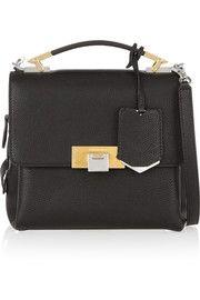 Le Dix Cartable mini-sac à bandoulière en cuir texturé