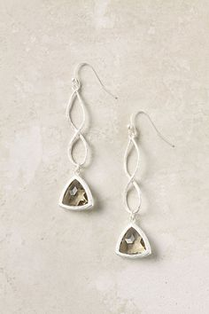 Twisted Glass Danglers - StyleSays