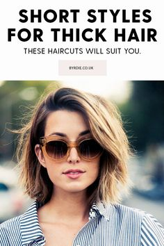 Thick hair? These short haircuts and hairstyles will all suit your tresses.