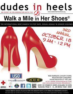 Walk a mile in her shoes. Dudes in heels. Grafenwoehr USO