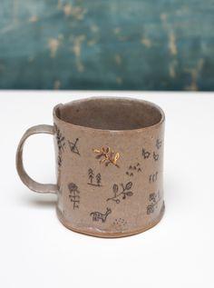 BDDW ceramics - Handmade mug with gold