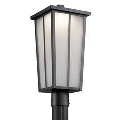 Kichler Amber Valley 49625BKTLED Outdoor Post Light - 49625BKTLED
