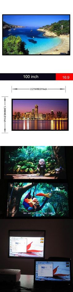 Projection Screens and Material: Excelvan Outdoor Portable Movie Screen 120 Inch 16:9 Home Cinema Projector Sc... BUY IT NOW ONLY: $38.78